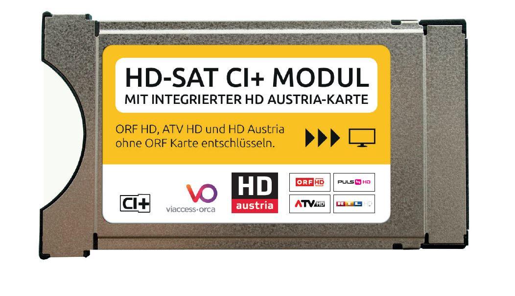 orf entschlüsseln ohne karte HD SAT CI+ Modul (CAM701) mit integrierter HD Austria Karte