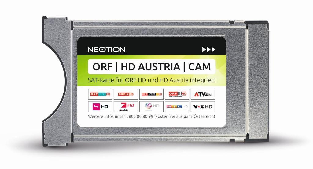 orf empfang ohne karte ORF HD AUSTRIA CAM mit SAT Karte für ORF HD und HD Austria integriert