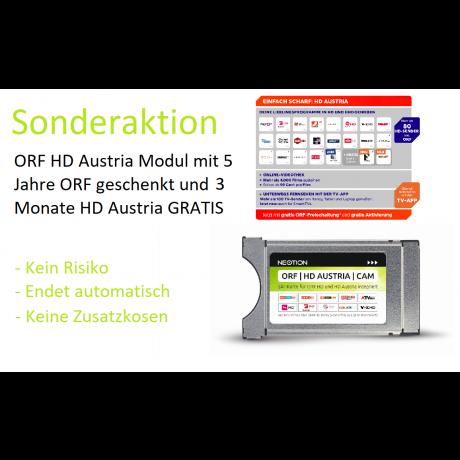 SONDERAKTION: ORF | HD Austria | CAM mit 5 Jahre ORF GESCHENKT und 3 Monate HD Austria GRATIS