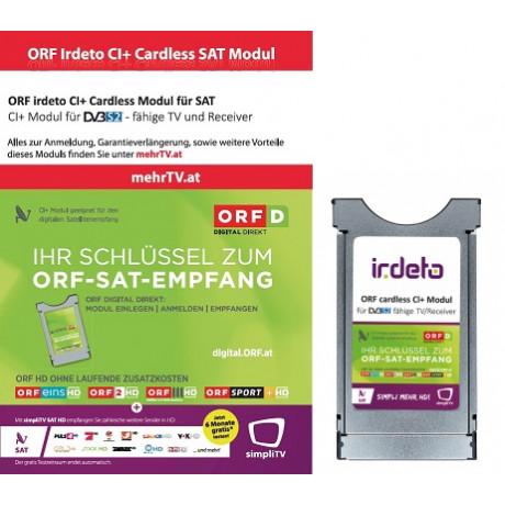 ORF irdeto CI+ Digital Direkt SAT Modul (keine Karte notwendig)